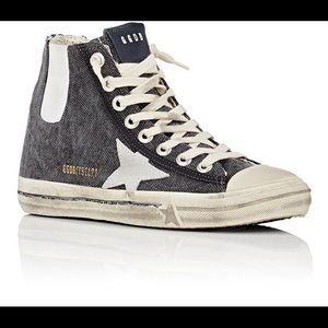 Authentic Golden Goose High Top Canvas Sneakers